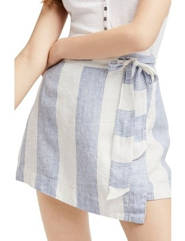 Uptown Days Linen Wrap Miniskirt by Free People