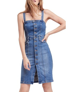 Button Front Denim Jumper by Free People