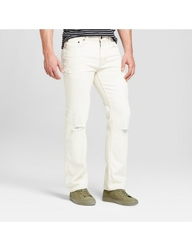 Men's Straight Fit Jeans With Coolmax   Goodfellow & Co™ Off White by Goodfellow & Co™