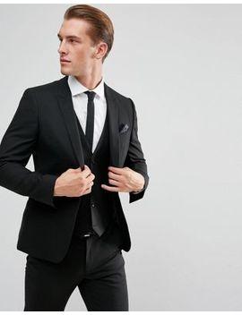 Asos Skinny Suit Jacket In Black by Asos