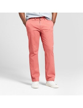 Men's Straight Fit Hennepin Chino Pants   Goodfellow & Co™ Dusty Red by Goodfellow & Co™
