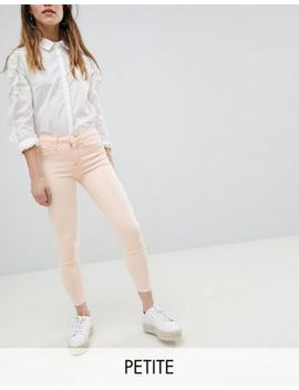 River Island Petite Light Pink Molly Skinny Jeans by River Island Petite