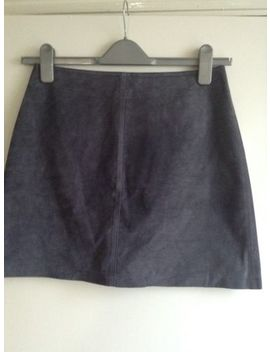 Warehouse  Real Suede Grey Skirt,Size 10. by Warehouse