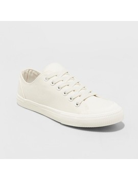 Women's Mandy Canvas Lace Up Sneakers   Universal Thread™ Cream by Universal Thread™