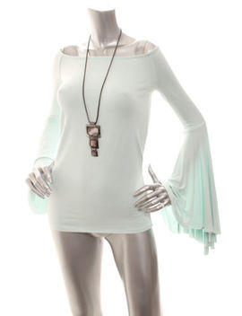 Nw Defect(1)  Free People Birds Of Paradise Off Shoulder  Bell Sleeve Top Mint S by Free People