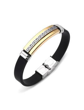 Color Block Stainless Steel Bracelet by Sheinside