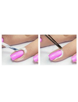 Nail Art Peel Off Base Coat Liquid Cream Tape Polish Palisade Manicure (Pink) by New Kelly