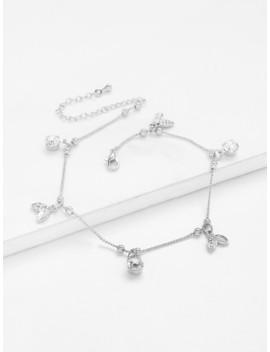 Leaves & Bells Charm Chain Bracelet by Sheinside