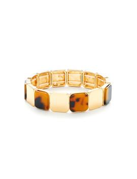 Mini Square Design Bangle Bracelet by Sheinside