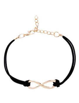 Black Criss Cross Detail Bracelet by Sheinside