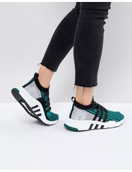 Adidas Originals Eqt Support Mid Adv Primeknit Trainers In Green by Adidas