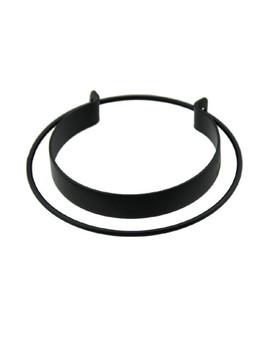Black Open Cuff Statement Bracelet by Sheinside