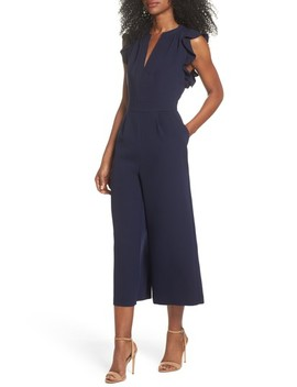 Ruffle Culotte Jumpsuit by Vince Camuto
