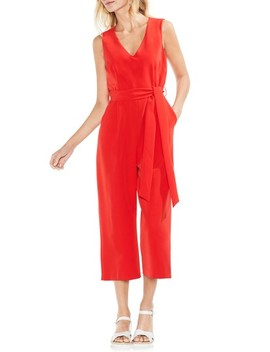 Sleeveless Tie Waist Jumpsuit by Vince Camuto