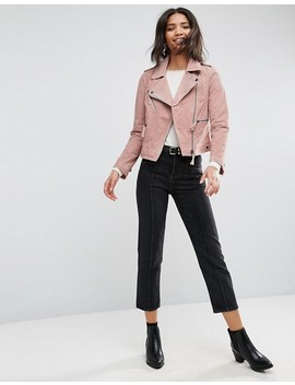 "<Font Style=""Vertical Align: Inherit;""><Font Style=""Vertical Align: Inherit;"">Asos Suede Biker Jacket</Font></Font> by  Asos Collection"