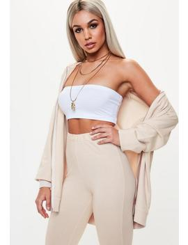 White Basic Bandeau Top by Missguided