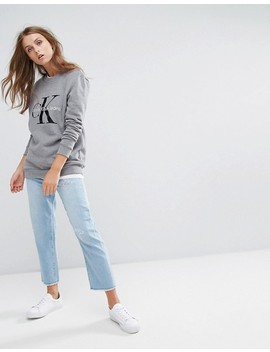 "<Font Style=""Vertical Align: Inherit;""><Font Style=""Vertical Align: Inherit;"">Calvin Klein Jeans   Sweatshirt With Logo</Font></Font> by  Calvin Klein"