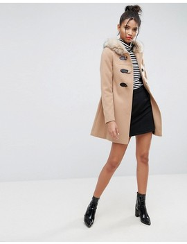 "<Font Style=""Vertical Align: Inherit;""><Font Style=""Vertical Align: Inherit;"">Asos Duffle Coat With Faux Fur Hood</Font></Font> by  Asos Collection"