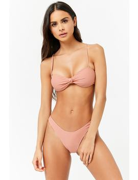 Knotted Front Bikini Top by Forever 21