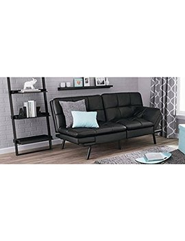 Mainstays Memory Foam Futon,Black Pu by Mainstay