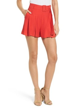 Belted High Waist Shorts by Moon River