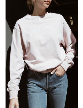 Erica New York Embroidery Sweatshirt by Brandy Melville