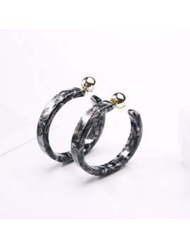 Fashion Acrylic Acrylic Round Ring Earrings by Shop2956156 Store