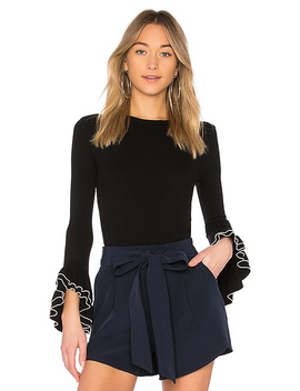 Layered Ruffle Sleeve Pullover by Milly
