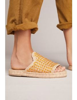 Kaanas Martinique Raffia Slide Sandals by Kaanas