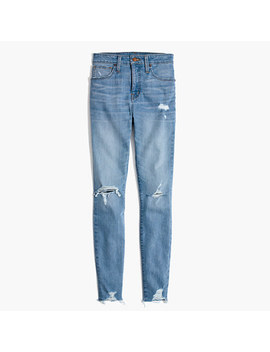 Tall Curvy High Rise Skinny Jeans In Ontario: Distressed Hem Edition by Madewell
