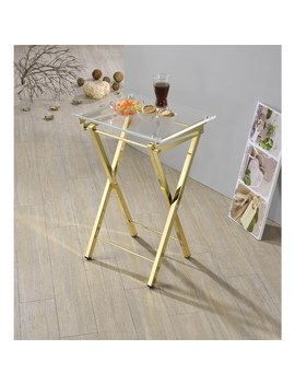 Silver Orchid Hutton Folding Tray Table 2 by Silver Orchid