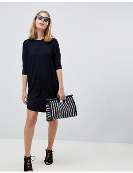 Asos Petite Oversize T Shirt Dress With Seam Detail by Asos Petite