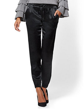 7th Avenue Pant   Satin Jogger by New York & Company