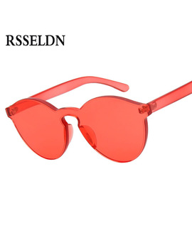 Rsseldn New One Piece Lens Sunglasses Women Transparent Plastic Glasses Men Style Sun Glasses Clear Candy Color Brand Designer by Rsseldn Official Store