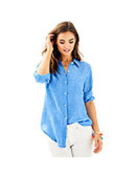 Sea View Button Down Top by Lilly Pulitzer