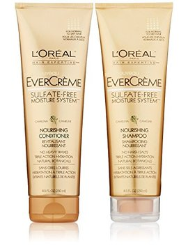 L'oreal Paris Ever Creme Sulfate Free Moisture System Nourishing, Duo Set Shampoo + Conditioner, 8.5 Ounce, 1 Each by L'oreal Paris