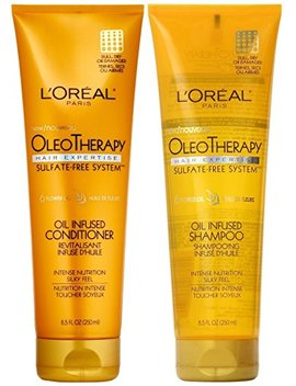 L'oreal Paris Hair Expertise Oleo Therapy Replenishing, Duo Set Shampoo + Conditioner, 8.5 Ounce, 1 Each by L'oreal Paris