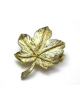 Gold Tone Maple Leaf Brooch/Maple Brooch/Gold Tone Brooch/Vintage Gift For Her/Vintage Gold Tone Jewellery/Gold Brooch/Gold Leaf Jewellery by Etsy