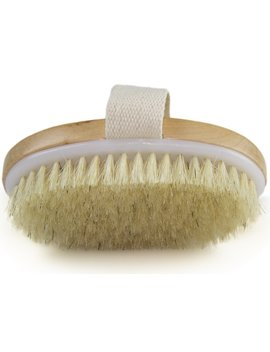 Dry Skin Body Brush   Improves Skin's Health And Beauty   Natural Bristle   Remove Dead Skin And Toxins, Cellulite Treatment , Improves... by Wholesome Beauty