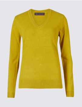 V Neck Jumper by Marks & Spencer
