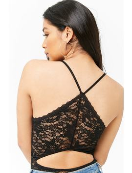Lace Cutout Bodysuit by Forever 21