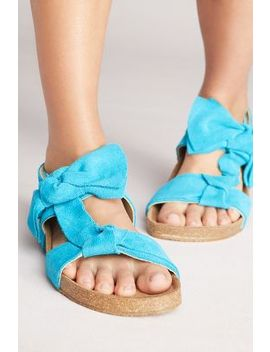Jeffrey Campbell Suede Bow Sandals by Jeffrey Campbell