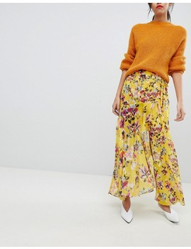 French Connection Floral Wrap Maxi Skirt by French Connection