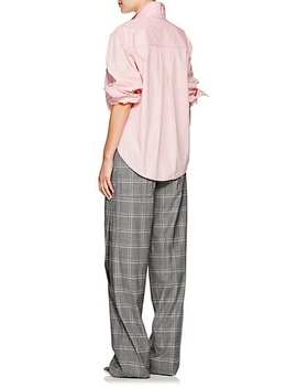 Plaid Wool Blend Wide Leg Trousers by Cedric Charlier