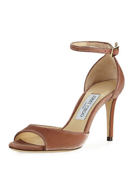 Annie Velvet 85mm City Sandal by Neiman Marcus
