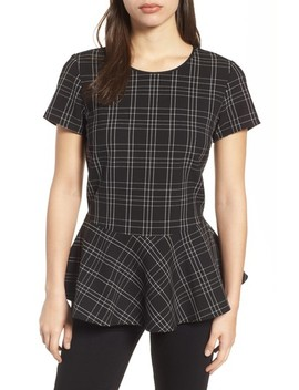 Plaid Peplum Top by Halogen®