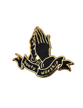Booty Worship Gold Pin. Hard Enamel Butts Ass Worship Lapel Pin. by Etsy