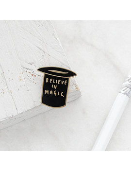Believe In Magic Enamel Pin   Gold Enamel Pin   Magic Enamel Pin   Black Gold Enamel Pin   Magic Pin   Enamel Lapel Pin   Gift For Her by Etsy
