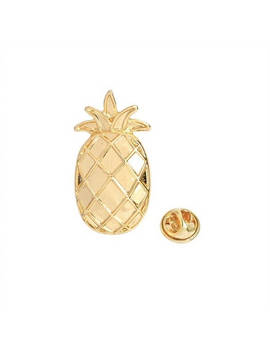 Pineapple Gold Pins by Etsy