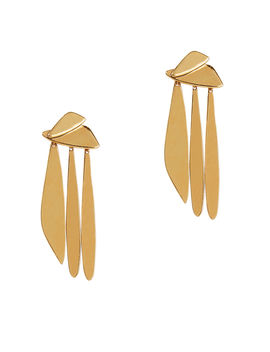 Gold Sail Earrings by Lizzie Fortunato